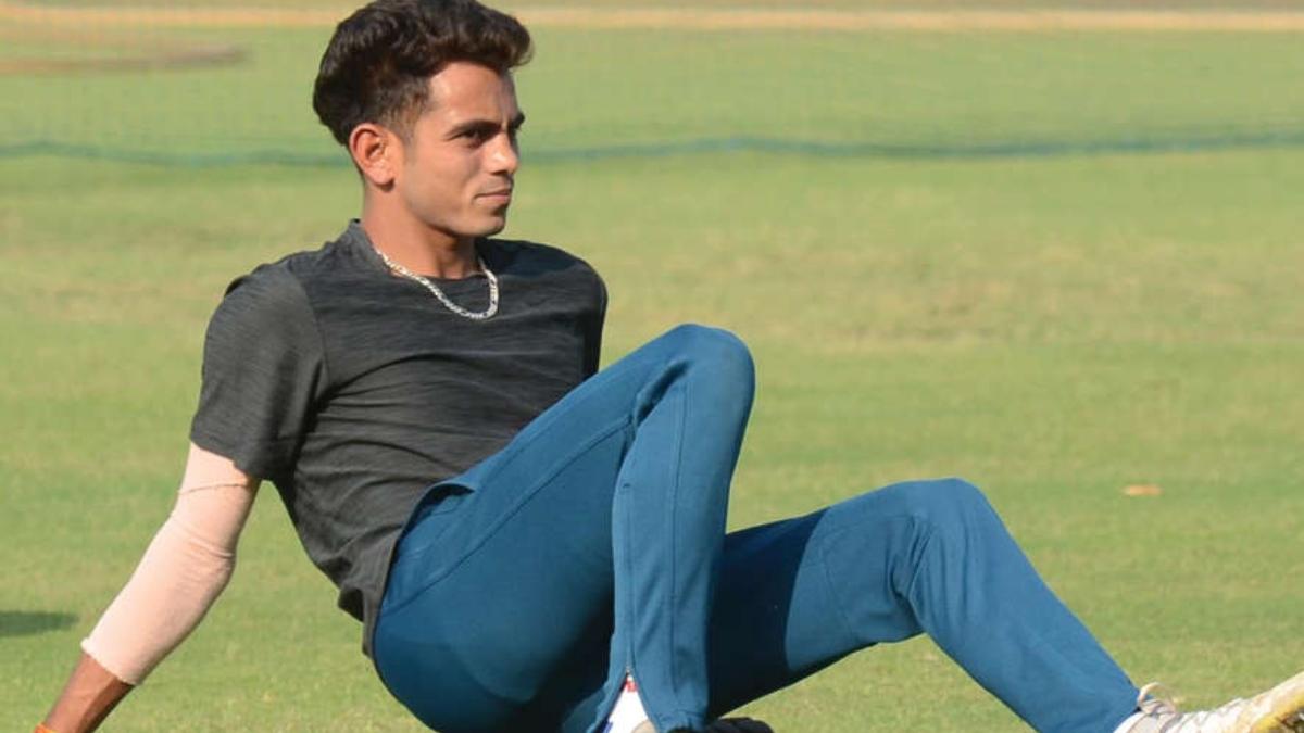 Indian bowler Kamlesh Nagarkoti.